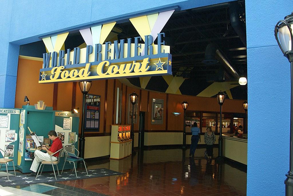 All Star Movies Resort - Cinema Hall lobby and food court