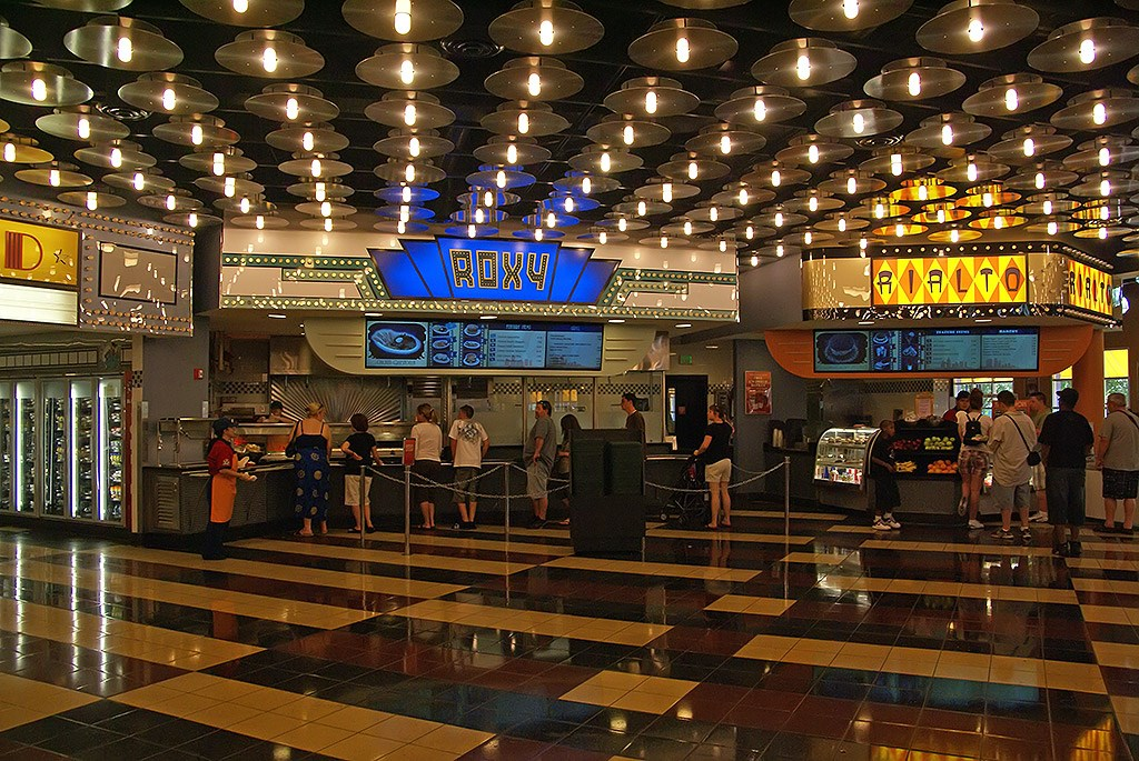 All Star Movies Resort - Cinema Hall lobby and food court