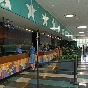 1 of 11: Disney's All Star Movies Resort - All Star Movies Resort - Cinema Hall lobby and food court
