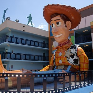 4 of 6: Disney's All Star Movies Resort - Toy Story buildings