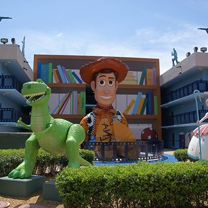 2 of 6: Disney's All Star Movies Resort - Toy Story buildings