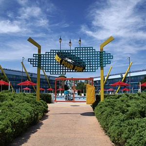 5 of 8: Disney's All Star Movies Resort - The Mighty Ducks pool