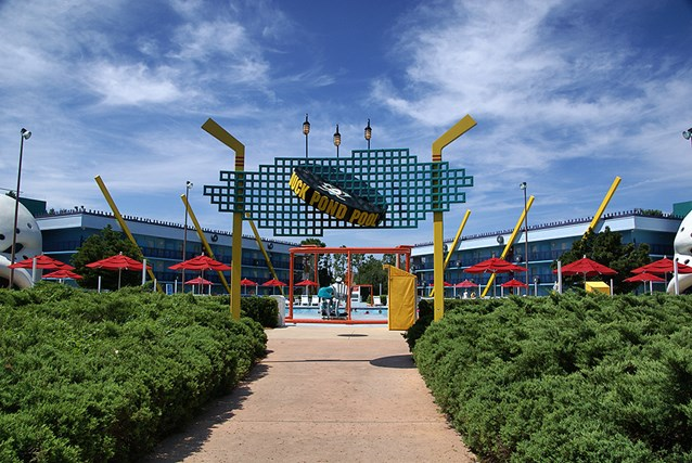 Disney's All Star Movies Resort - The Mighty Ducks pool