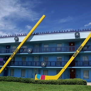 1 of 2: Disney's All Star Movies Resort - Mighty Ducks buildings