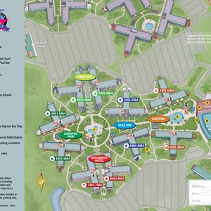 1 of 1: Disney's All Star Music Resort - 2013 All Star Music Resort guide map