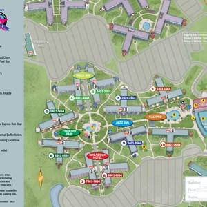 1 of 1: Disney's All Star Music Resort - 2013 All Star Music Resort guide map