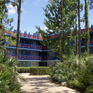 2 of 4: Disney's All Star Music Resort - Jazz Inn buildings