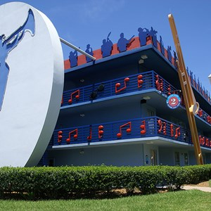 3 of 4: Disney's All Star Music Resort - Jazz Inn buildings