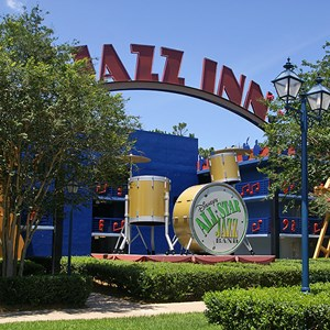 1 of 4: Disney's All Star Music Resort - Jazz Inn buildings