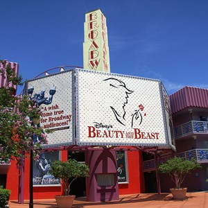 3 of 4: Disney's All Star Music Resort - Broadway Hotel buildings