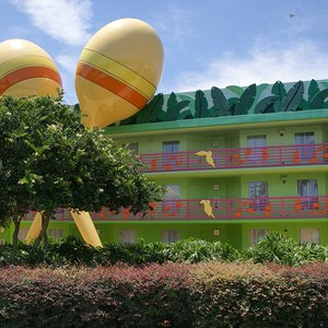 1 of 2: Disney's All Star Music Resort - Calypso buildings