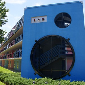 1 of 2: Disney's All Star Music Resort - Rock Inn buildings