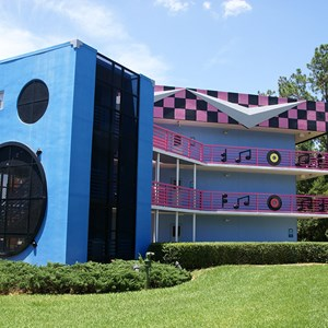 2 of 2: Disney's All Star Music Resort - Rock Inn buildings