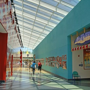 2 of 11: Disney's All Star Music Resort - All Star Music Resort - Melody Hall lobby and food court