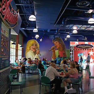 7 of 11: Disney's All Star Music Resort - All Star Music Resort - Melody Hall lobby and food court