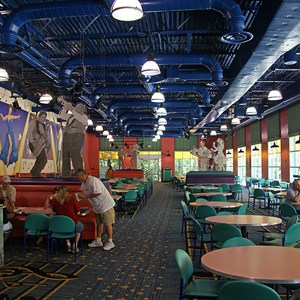 8 of 11: Disney's All Star Music Resort - All Star Music Resort - Melody Hall lobby and food court