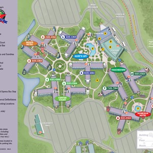 1 of 1: Disney's All Star Sports Resort - 2013 All Star Sports Resort guide map