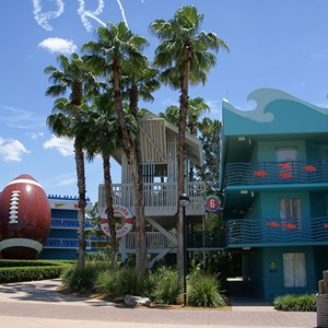 1 of 3: Disney's All Star Sports Resort - Surfs Up buildings