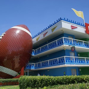 1 of 6: Disney's All Star Sports Resort - Touchdown buildings