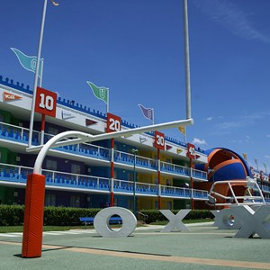 3 of 6: Disney's All Star Sports Resort - Touchdown buildings