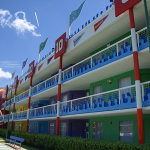 4 of 6: Disney's All Star Sports Resort - Touchdown buildings