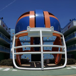 5 of 6: Disney's All Star Sports Resort - Touchdown buildings