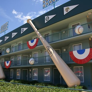 4 of 5: Disney's All Star Sports Resort - Homerun Hotel buildings