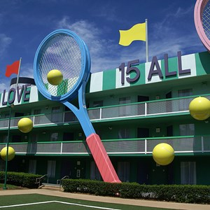 3 of 4: Disney's All Star Sports Resort - Center Court buildings
