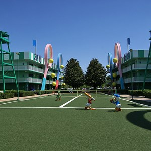4 of 4: Disney's All Star Sports Resort - Center Court buildings