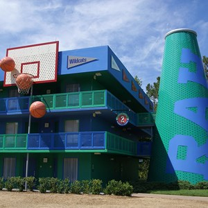 1 of 4: Disney's All Star Sports Resort - Hoops Hotel buildings