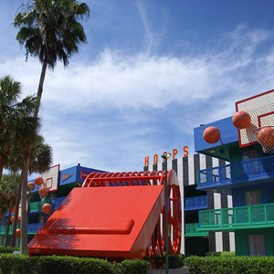 2 of 4: Disney's All Star Sports Resort - Hoops Hotel buildings