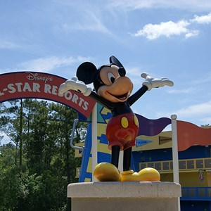 4 of 4: Disney's All Star Sports Resort - Hoops Hotel buildings
