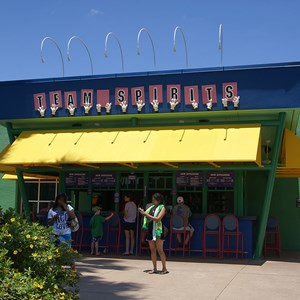 8 of 8: Disney's All Star Sports Resort - All Star Sports Resort - Stadium Hall lobby and food court