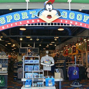3 of 8: Disney's All Star Sports Resort - All Star Sports Resort - Stadium Hall lobby and food court