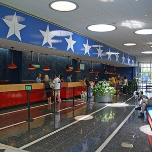 1 of 8: Disney's All Star Sports Resort - All Star Sports Resort - Stadium Hall lobby and food court