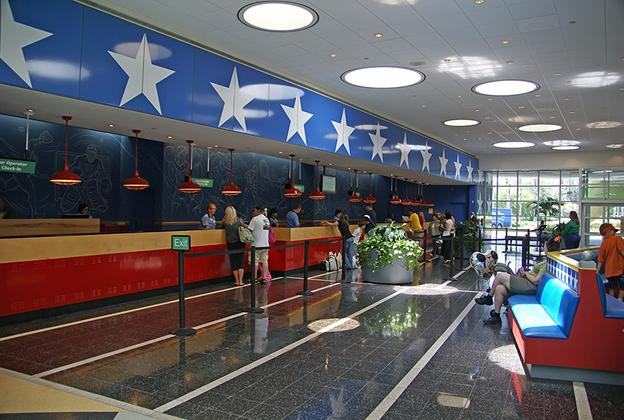 All Star Sports Resort - Stadium Hall lobby and food court
