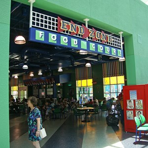 5 of 8: Disney's All Star Sports Resort - All Star Sports Resort - Stadium Hall lobby and food court