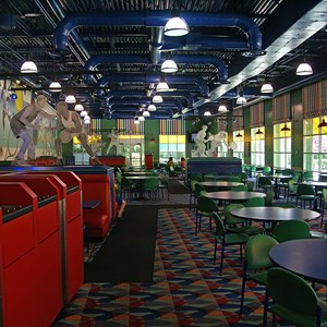 7 of 8: Disney's All Star Sports Resort - All Star Sports Resort - Stadium Hall lobby and food court