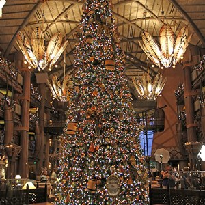 1 of 16: Disney's Animal Kingdom Lodge - Animal Kingdom Lodge holiday decorations 2009