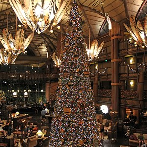 12 of 16: Disney's Animal Kingdom Lodge - Animal Kingdom Lodge holiday decorations 2009