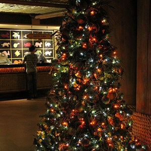 15 of 16: Disney's Animal Kingdom Lodge - Animal Kingdom Lodge holiday decorations 2009