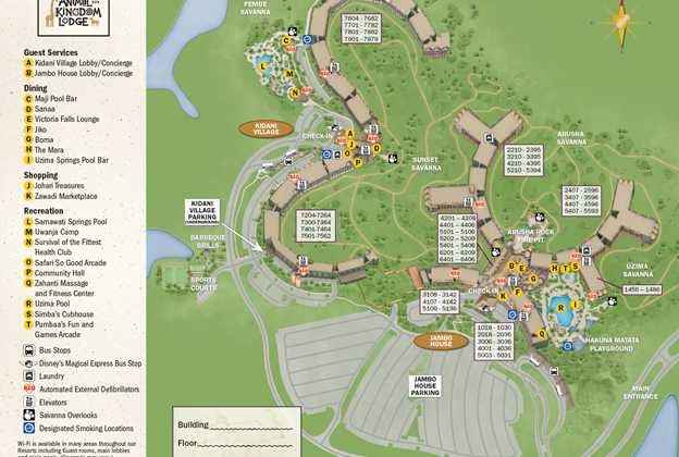 2013 Animal Kingdom Lodge guide map