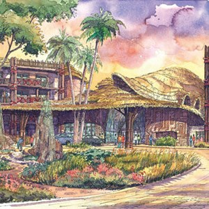 1 of 3: Disney's Animal Kingdom Lodge - Kidani Village - Disney Animal Kingdom Villas concept art