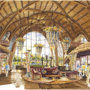 2 of 3: Disney's Animal Kingdom Lodge - Kidani Village - Disney Animal Kingdom Villas concept art