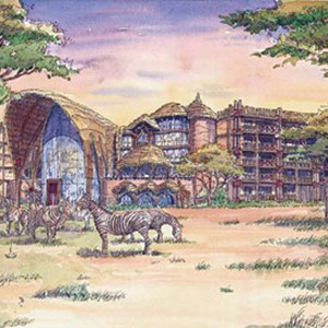 3 of 3: Disney's Animal Kingdom Lodge - Kidani Village - Disney Animal Kingdom Villas concept art