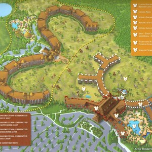 1 of 1: Disney's Animal Kingdom Lodge - Kidani Village - Disney Animal Kingdom Villas pre-opening map