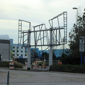 2 of 2: Disney's Art of Animation Resort - Entrance signage construction