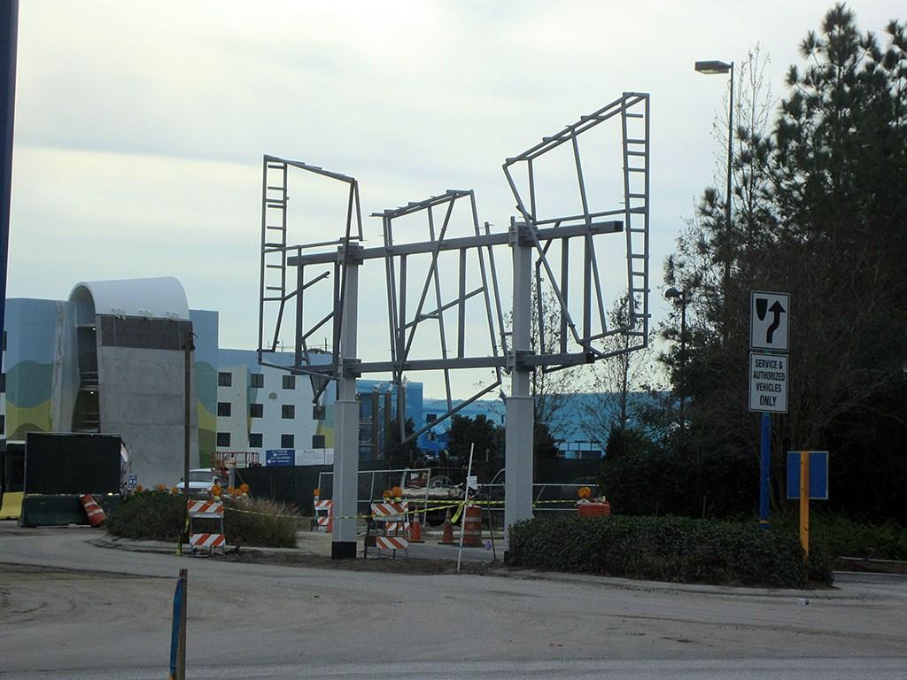 Entrance signage construction