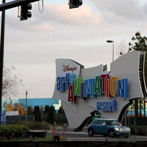 1 of 2: Disney's Art of Animation Resort - Main entrance signage