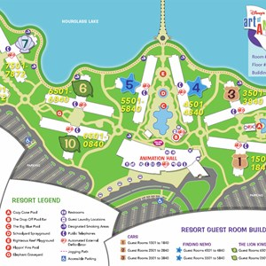 1 of 1: Disney's Art of Animation Resort - Disney's Art of Animation Resort map